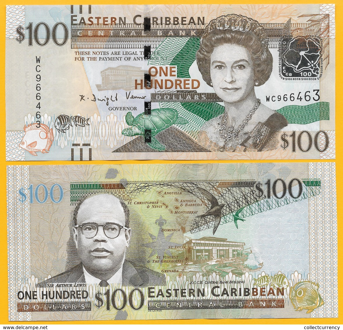 East Caribbean States 100 DollarsP-55b 2016 UNC - Caraïbes Orientales
