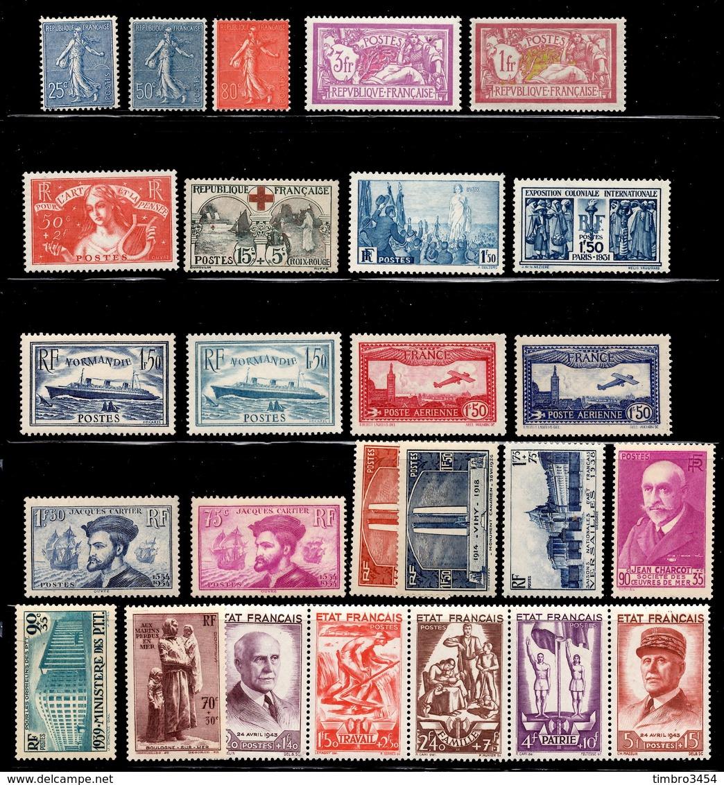 France Belle Petite Collection D'anciens Neufs * 1903/1943. Bonnes Valeurs. B/TB. A Saisir! - France