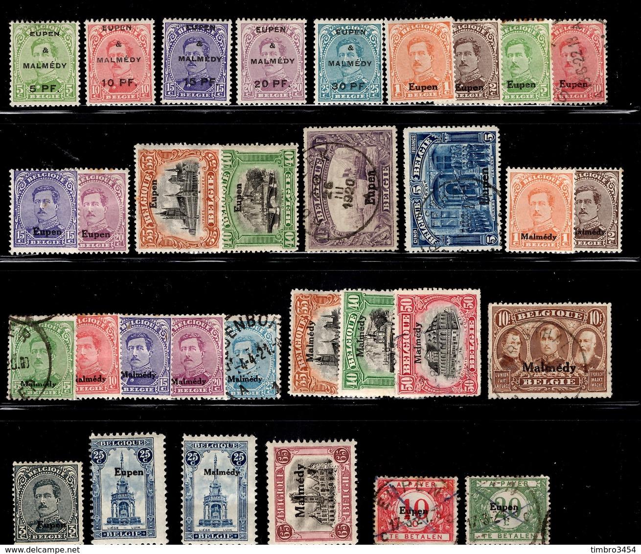 Belgique Eupen/Malmédy Petite Collection 1920. B/TB. A Saisir! - Guerre 14-18
