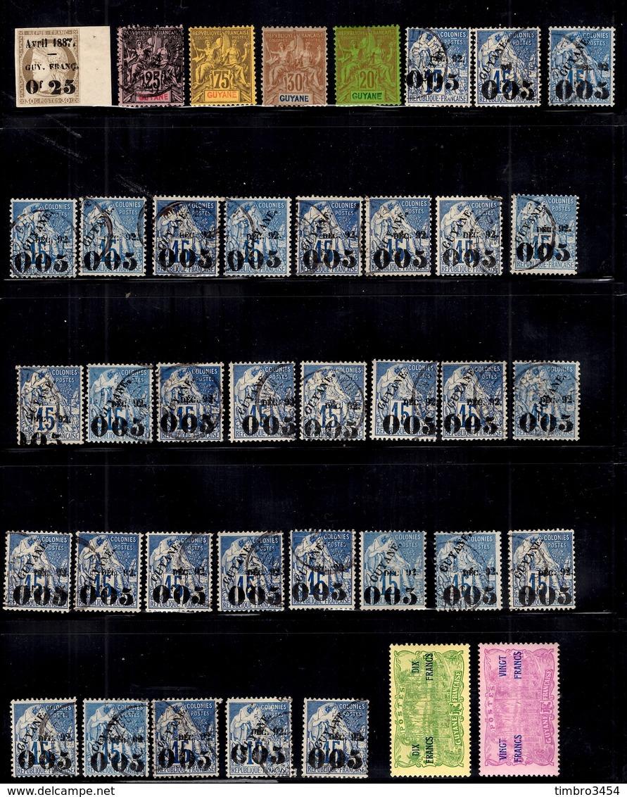 Guyane Française Très Belle Collection 1887/1947. Bonnes Valeurs. B/TB. A Saisir! - Guyane Française (1886-1949)