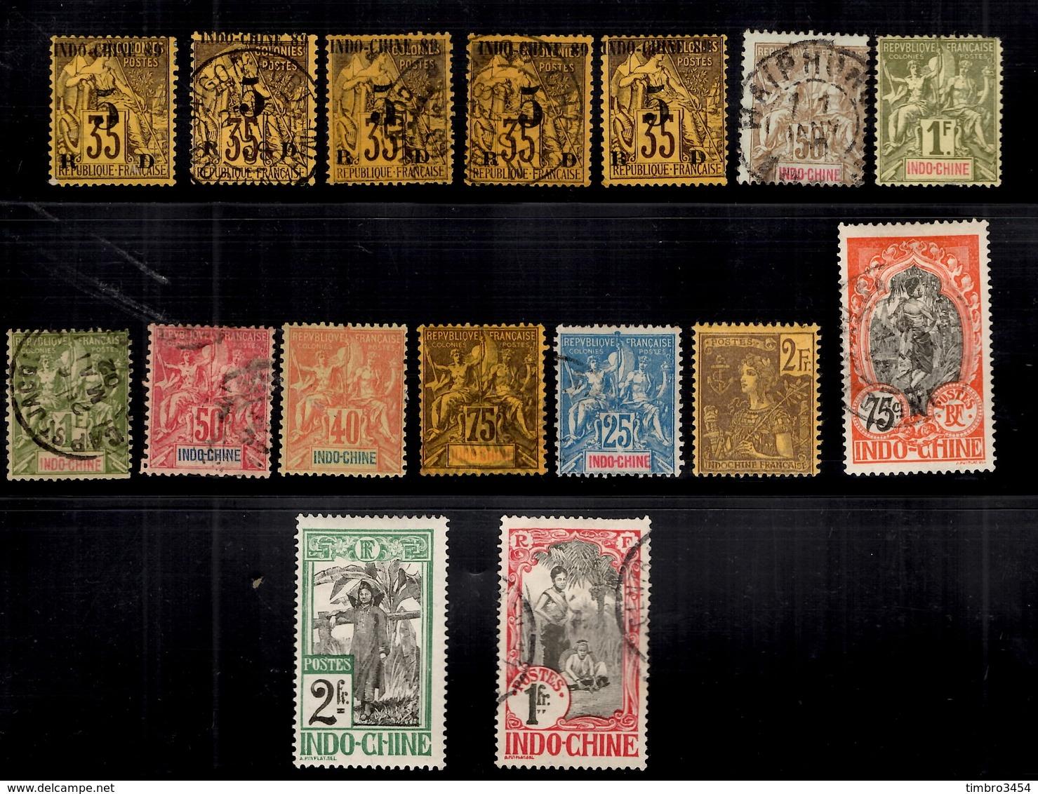Indochine Belle Petite Collection D'anciens 1889/1910. Bonnes Valeurs. B/TB. A Saisir! - Indochine (1889-1945)