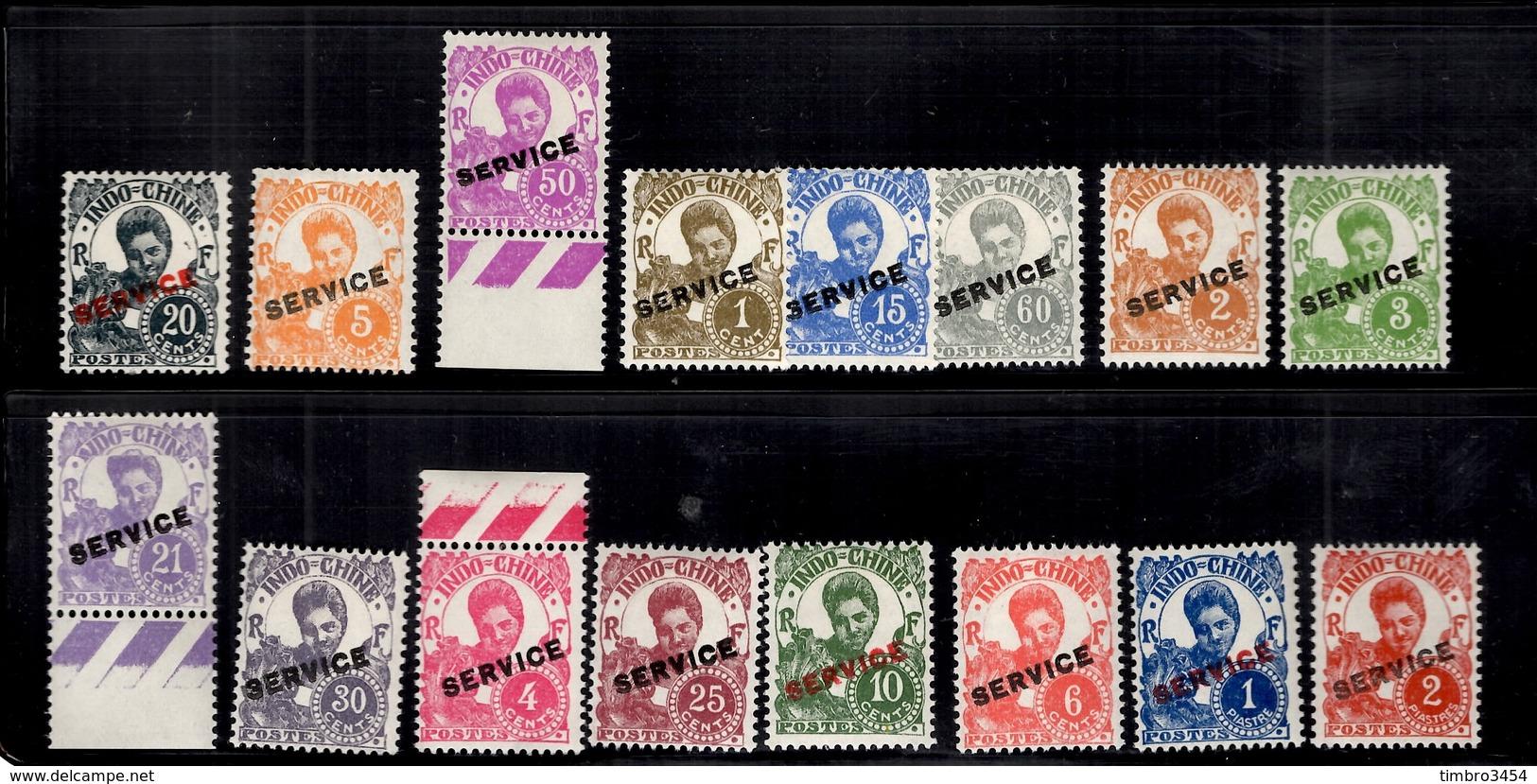 Indochine Service YT N° 17/32 Série Complète Neufs *. B/TB. A Saisir! - Indochine (1889-1945)