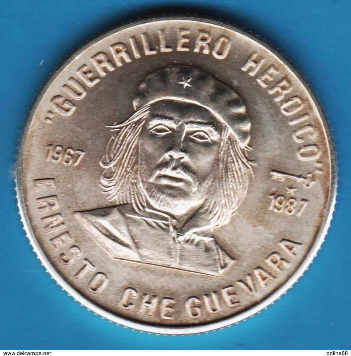 CUBA 5 Pesos 1987 ERNESTO CHE GUEVARA SILVER _ ARGENT 999‰  SCARCE !!! - Cuba