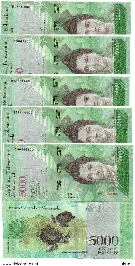 Venezuela - 5 Pcs X 5000 Bolivares 2017 UNC Ukr-OP - Venezuela