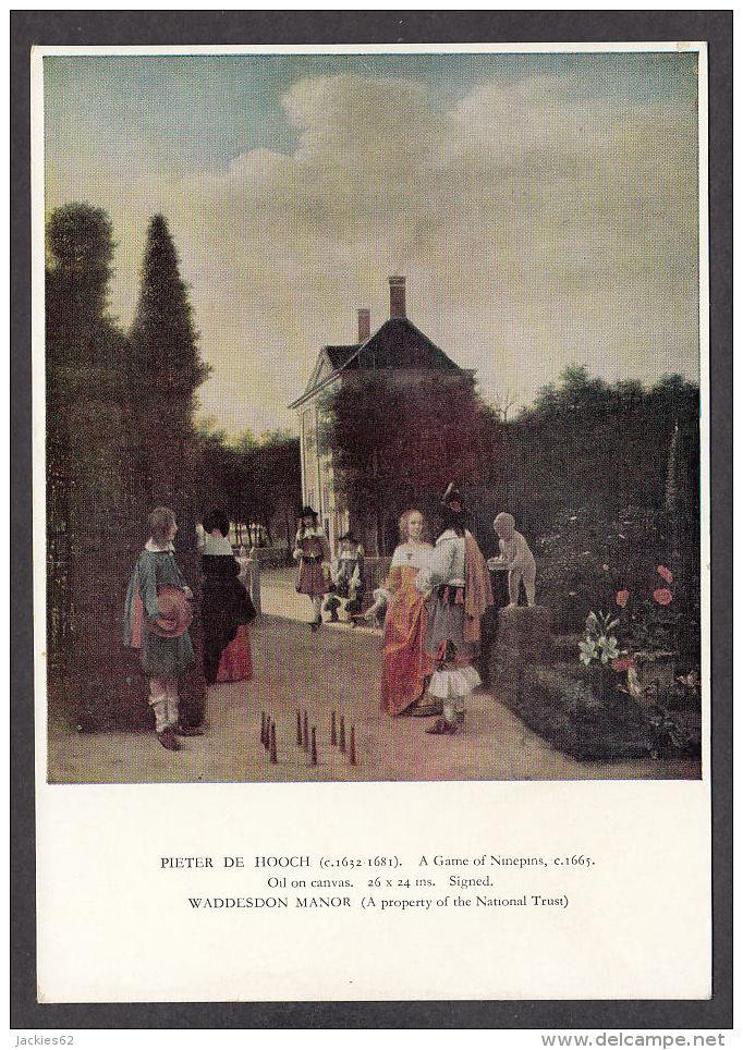 PD138/ Pieter DE HOOCH, *Joueurs De Quilles Dans Un Jardin*, Saint-Louis, Musée D'art - Peintures & Tableaux