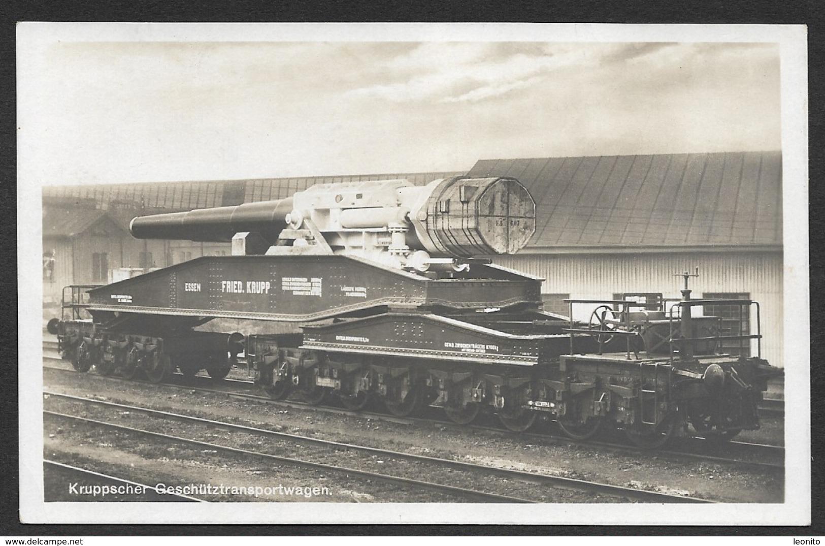MILITARIA Kruppscher Geschütztransportwagen Krupp WW1 - Ausrüstung