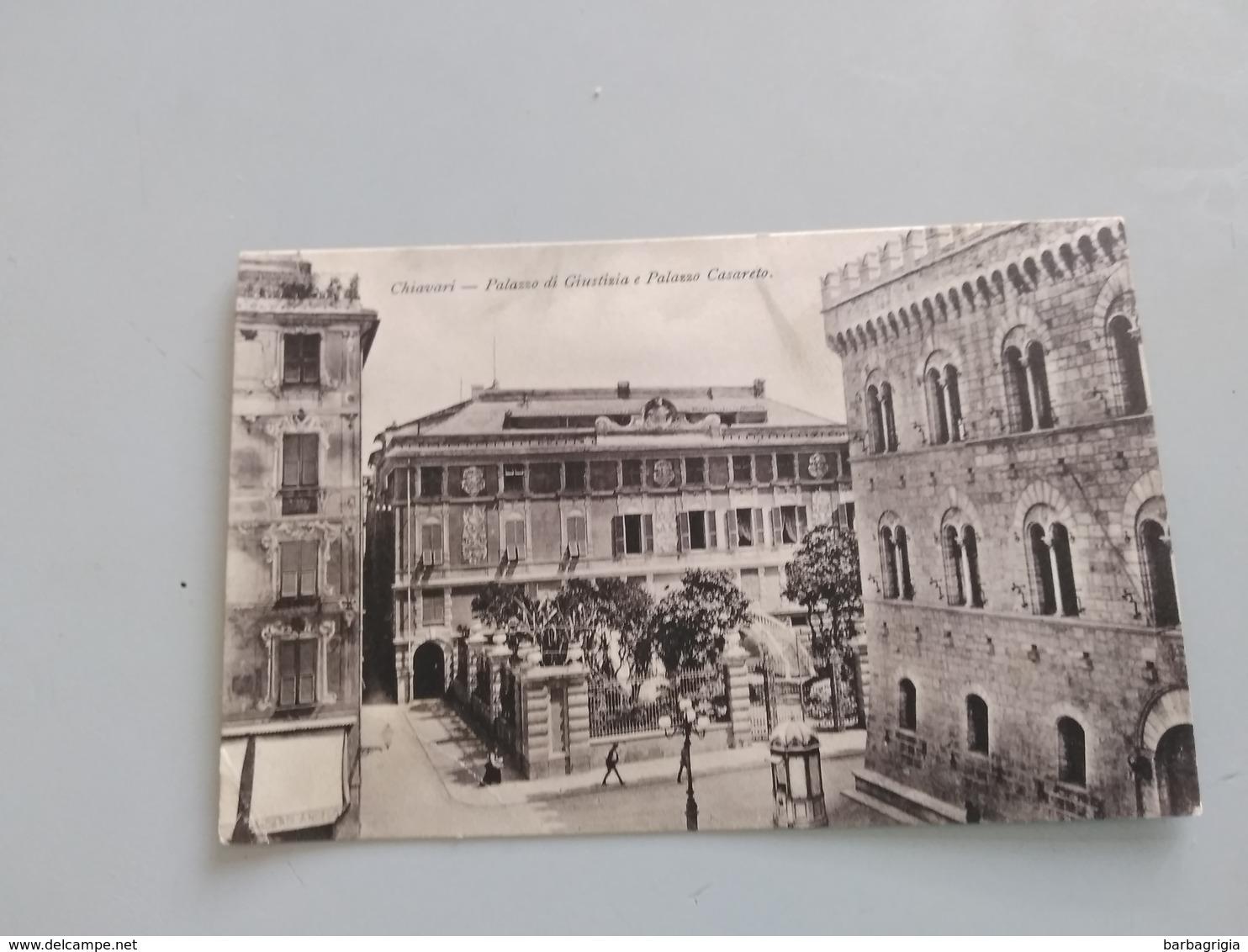 CARTOLINA CHIAVARI - PALAZZO DI GIUSTIZIA E PALAZZO CASARETO - Genova (Genoa)