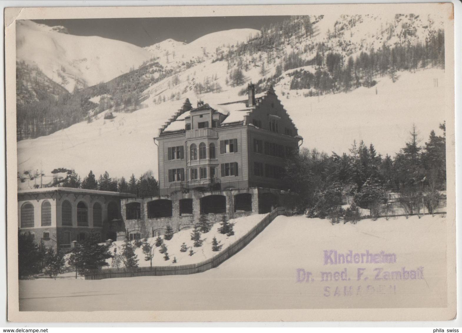 Kinderheim Dr. Med. F. Zambait Sameden Im Winter En Hiver - Photo: Albert Steiner - GR Grisons
