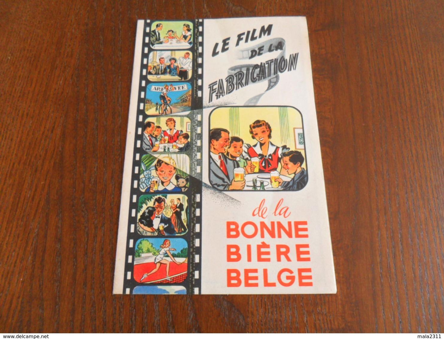 ANCIEN FOLDER PUBLIC. / FILM DE LA FABRIC. DE LA BONNE BIERE BELGE - Autres