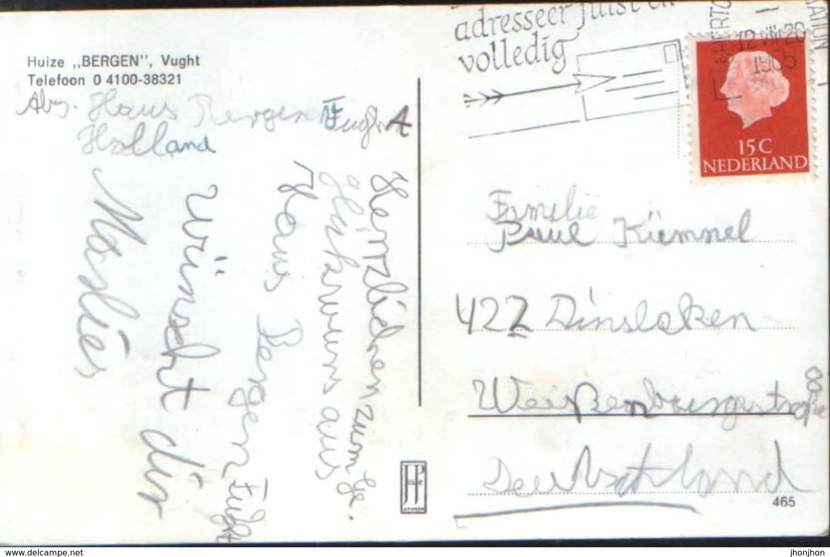 "Nederland - Postcard Used 1965 - House ""Bergen"", Vught - 2/scans - Vught"