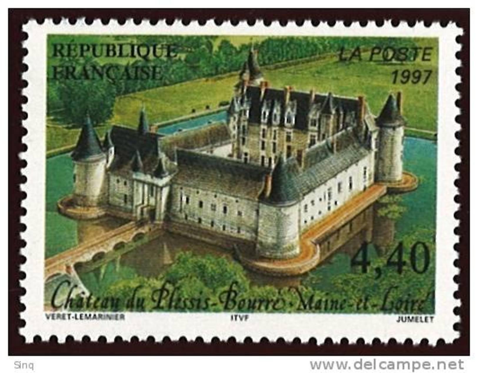 N° 3081  Année 1997  Château Du Plessis-Bourré  Faciale 4,40 Francs - Neufs