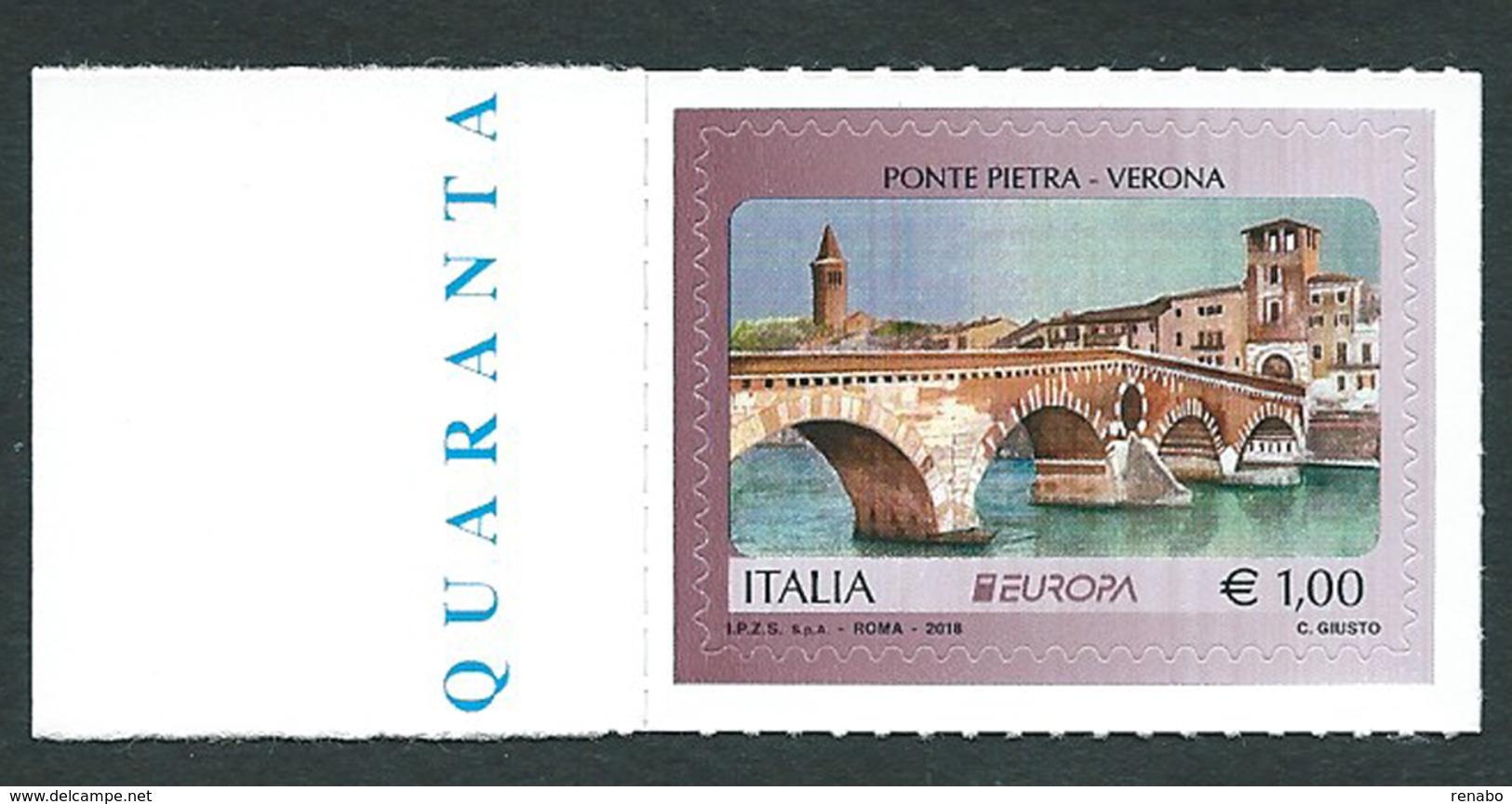 Italia, Italy, Italie, Italien 2018; Ponti, Bridges, Ponts, Brücken; Ponte Sul Metauro A Fermignano. Di Bordo, Nuovo - Ponti
