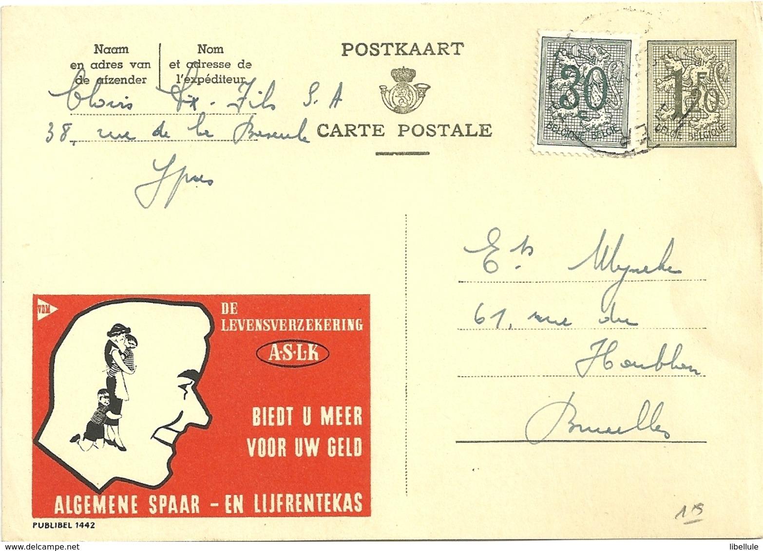Entier Postal : Algemene Spaar - Stamped Stationery
