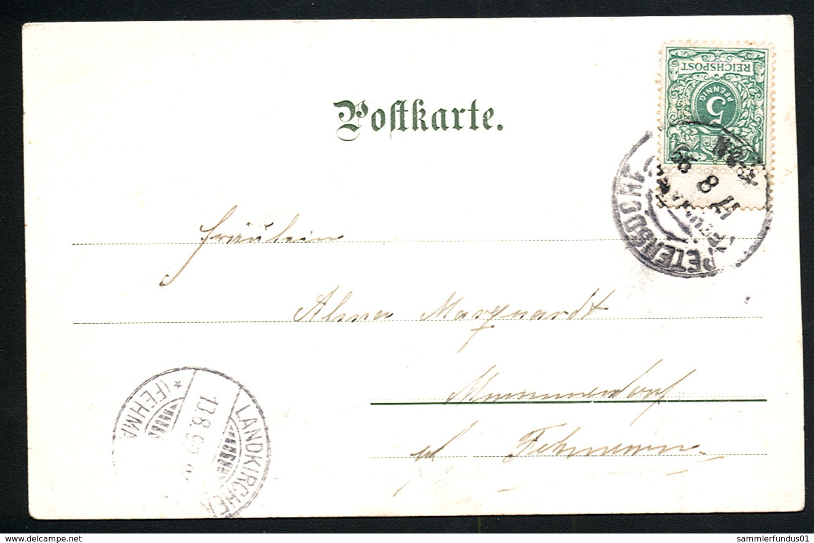 AK/CP Burg  Fehmarn  Breitestraße   Gel./circ.  1899   Erhaltung/Cond. 2-    Nr. 00515 - Fehmarn