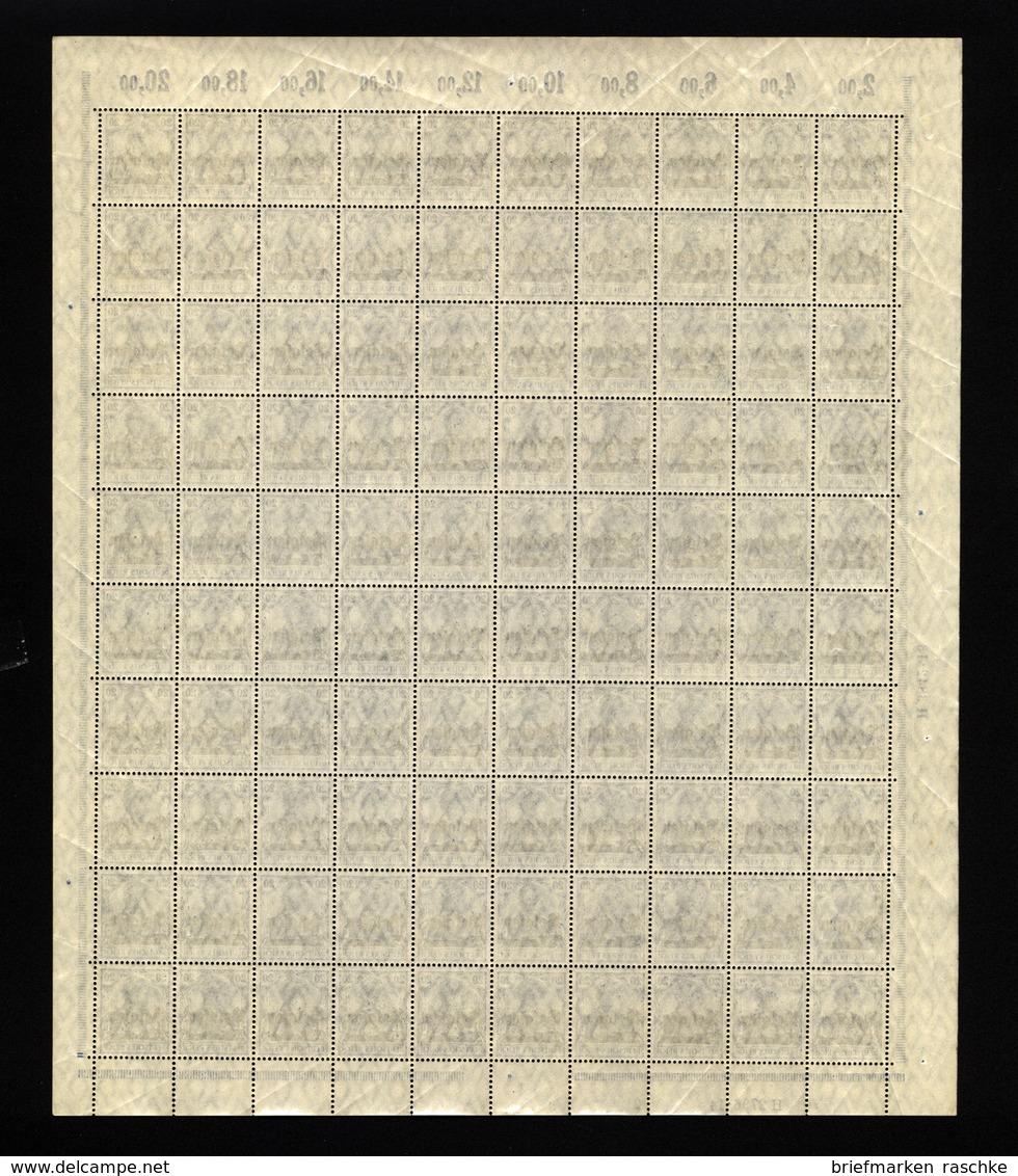 Belgien Nr.4 Im Bogen,UR Etwas Angetrennt (M7) - Besetzungen 1914-18