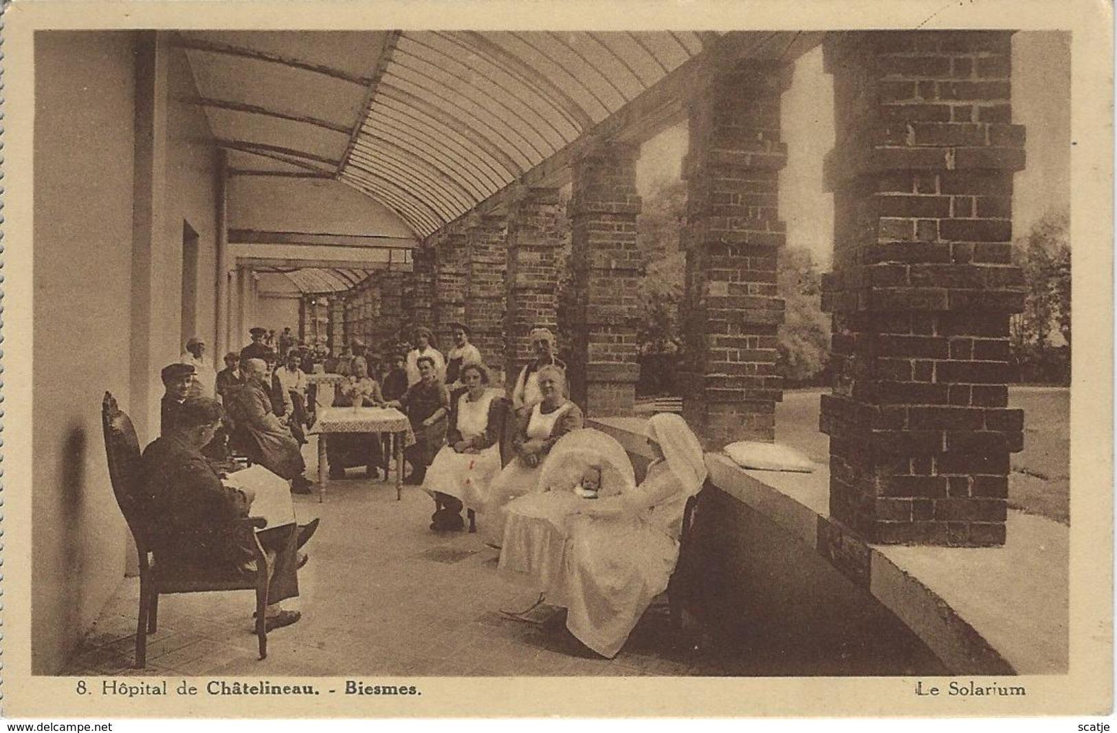 Hôpital De Châtelineau.   -   Biesmes.    Le Solarium - Charleroi