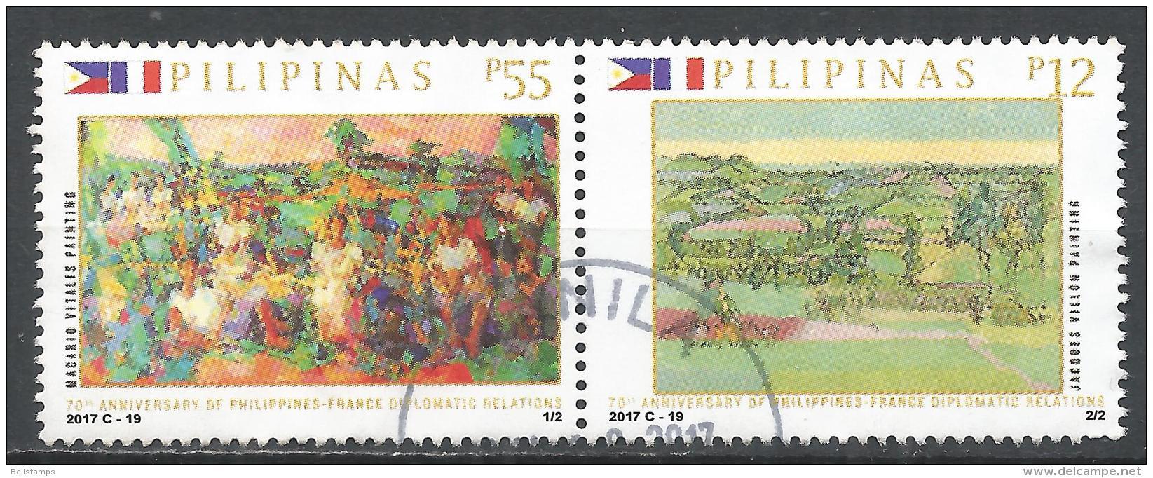 Philippines 2017. Scott #3732 (U) Diplomatic Relations Between Philippines And France * - Filippijnen