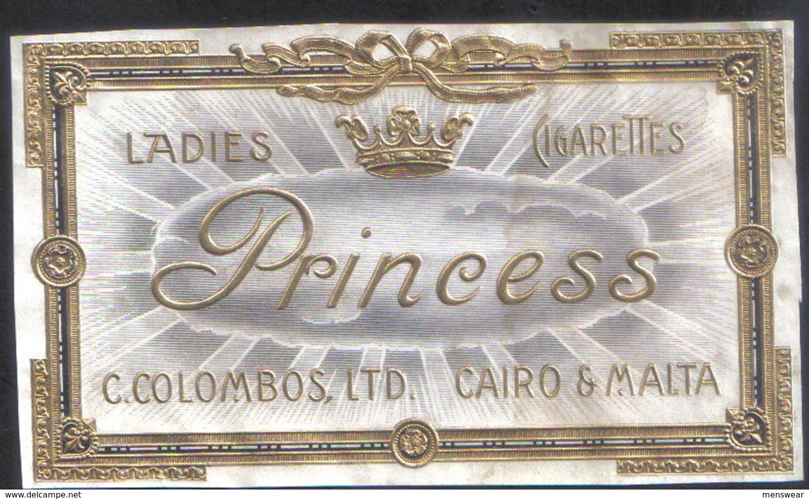 PRINCESS LADIES CIGARETTES FROM MALTA  - 1920 VERY RARE - - Empty Cigarettes Boxes