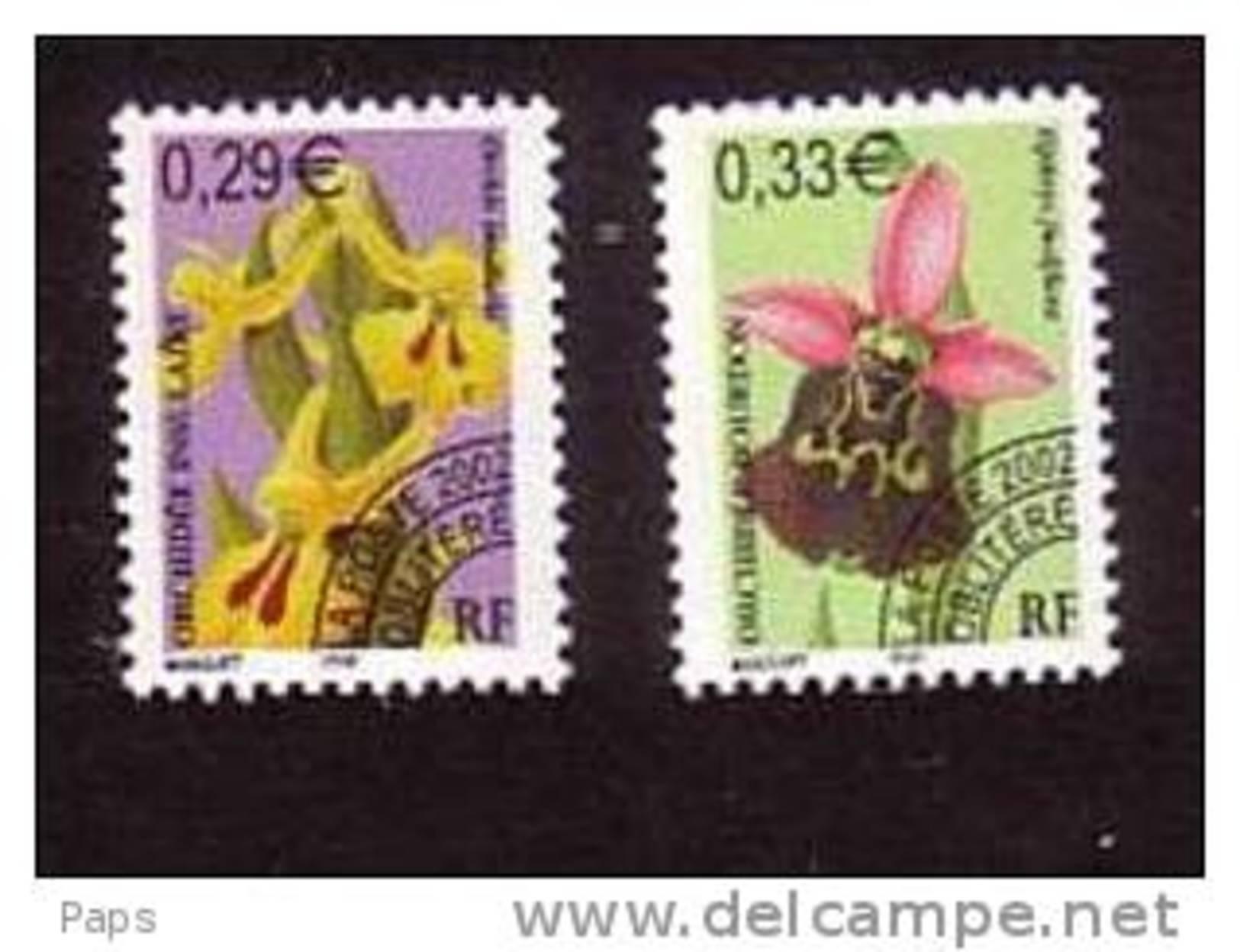 FRANCE 2002-PREO N°244/245** FLEURS ORCHIDEES - 1989-....