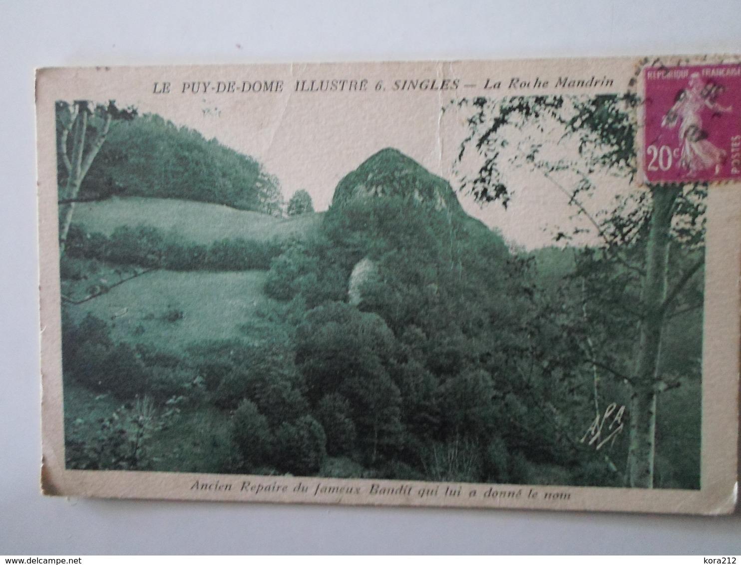 PUY DE DÔME    Singles  La Roche Mandrin - Autres Communes