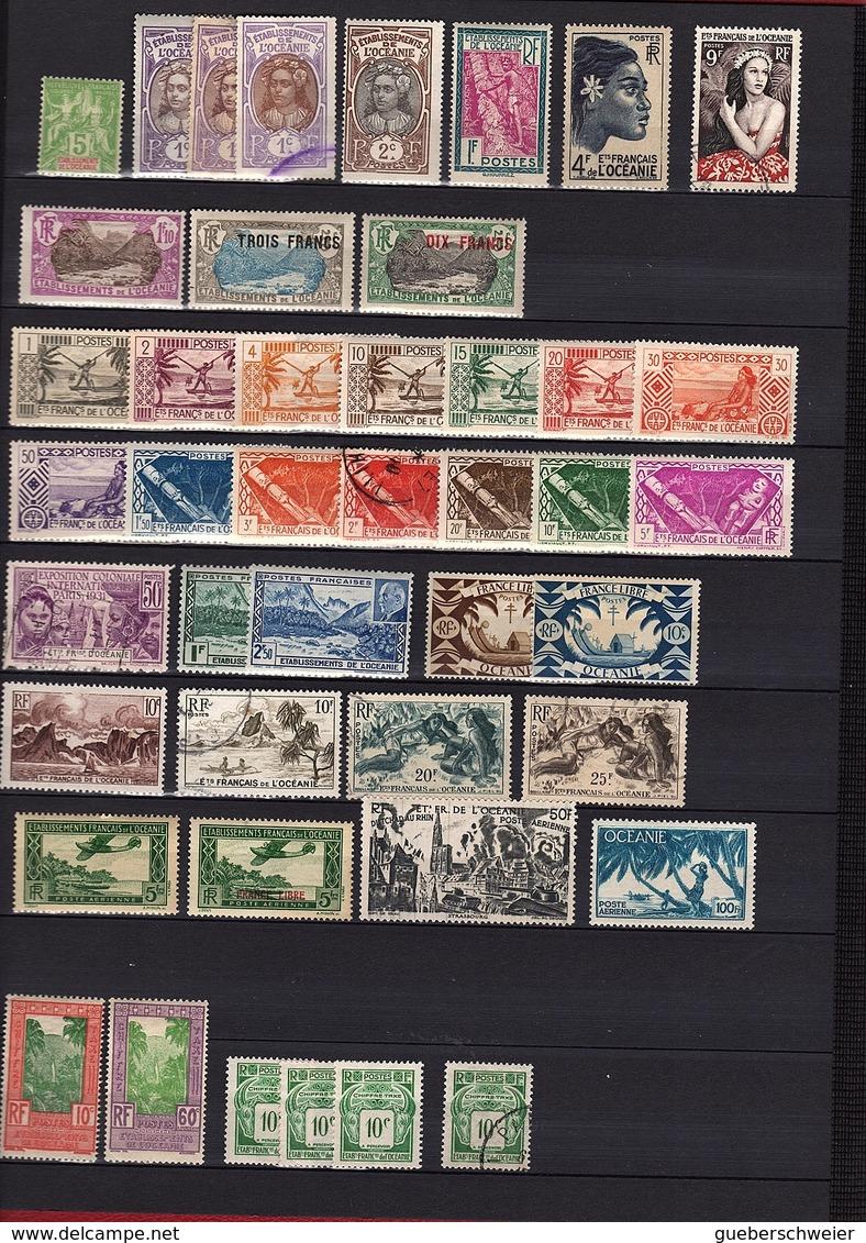 TERRITOIRES FRANCAIS D'OUTRE-MER Collection Dans Classeurs Neufs Et Oblitérés Certains Par Multiples - Collections
