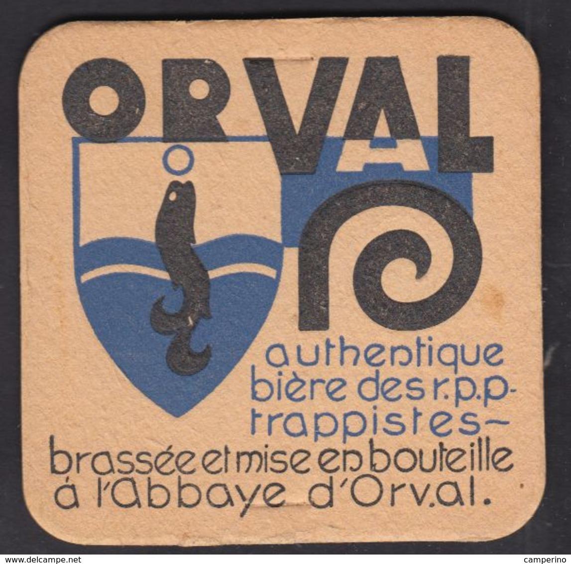 Ancien Sous Bock Bière TRAPPISTE ORVAL - Belgique Coaster - Sous-bocks