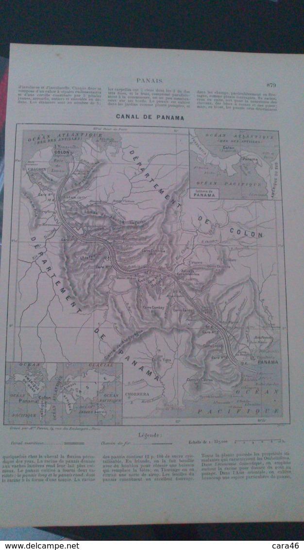 AFFICHE (DESSIN) - CARTE GEOGRAPHIQUE - CANAL DE PANAMA - Affiches