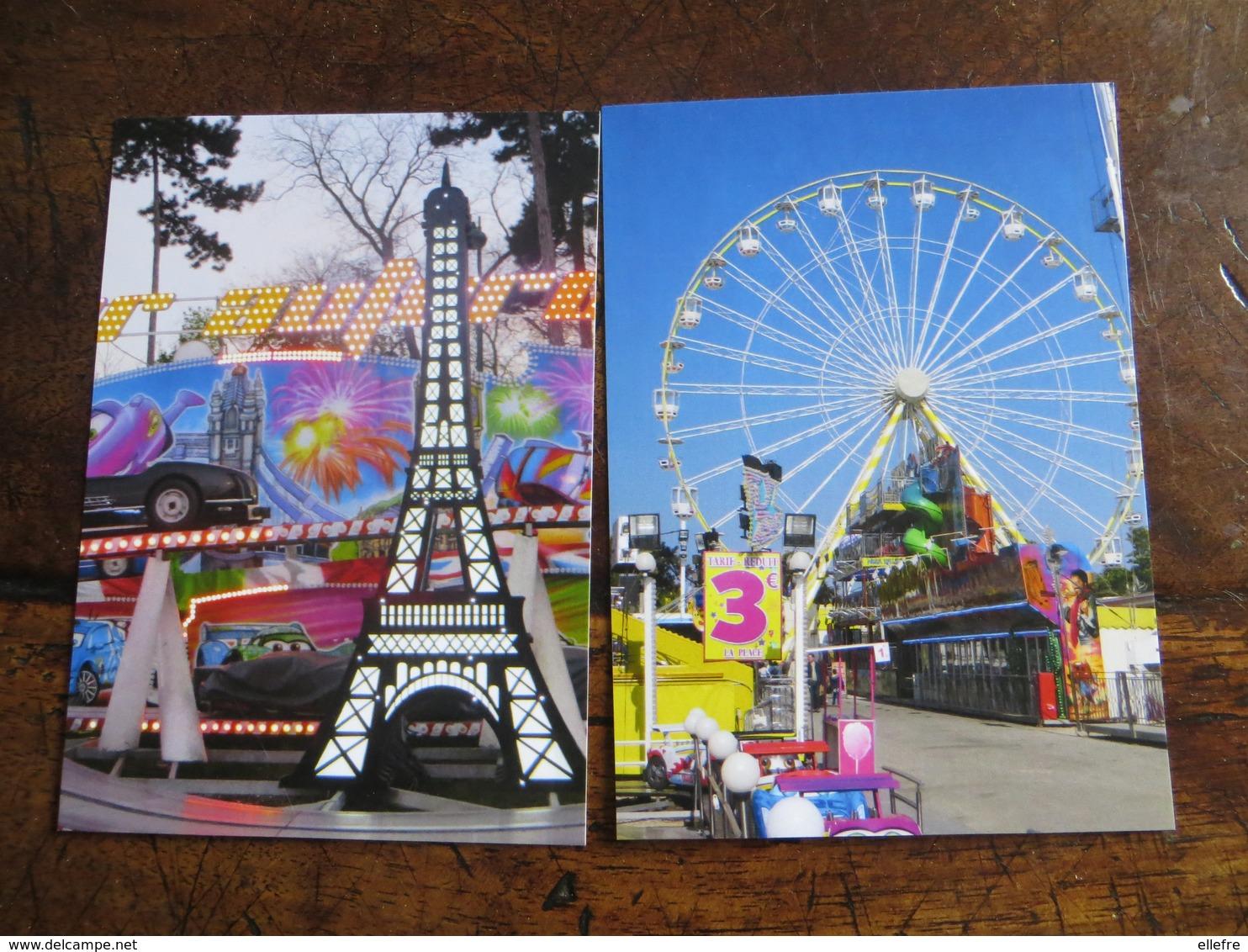 LOT De 12 Très Belles Cpm Fête Foraine Manège Grand Huit ( Foire Du Trône Paris ) Parfait Etat Sans Légende Au Recto - Ansichtskarten