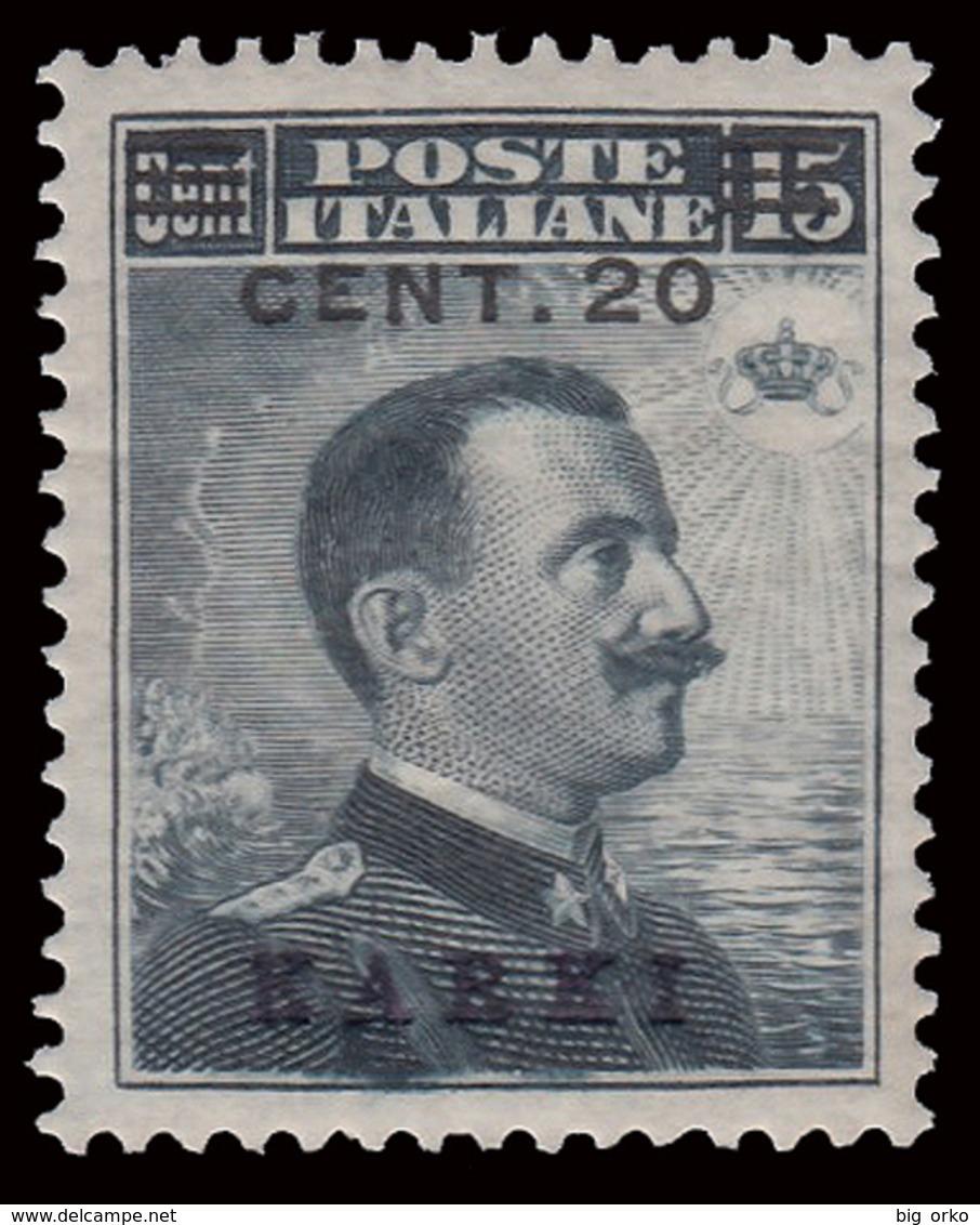 Italia - Isole Egeo: Carchi - 20 C. Su 15 C. Grigio Nero - 1916 - Egeo (Carchi)