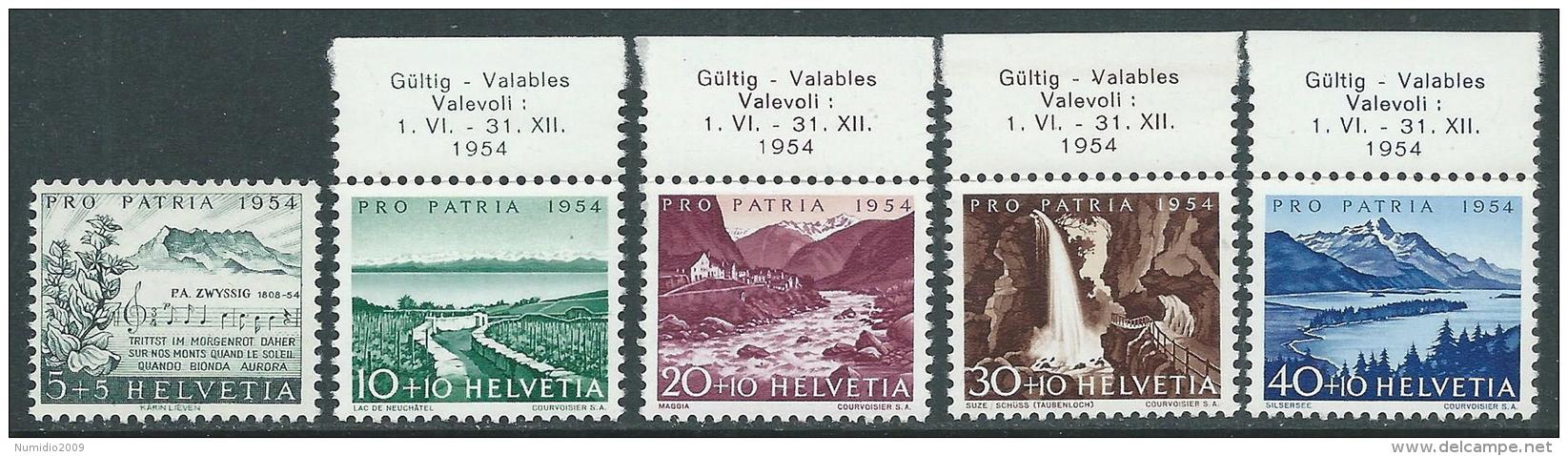 1954 SVIZZERA PRO PATRIA VEDUTE DIVERSE MNH ** - I58 - Nuovi