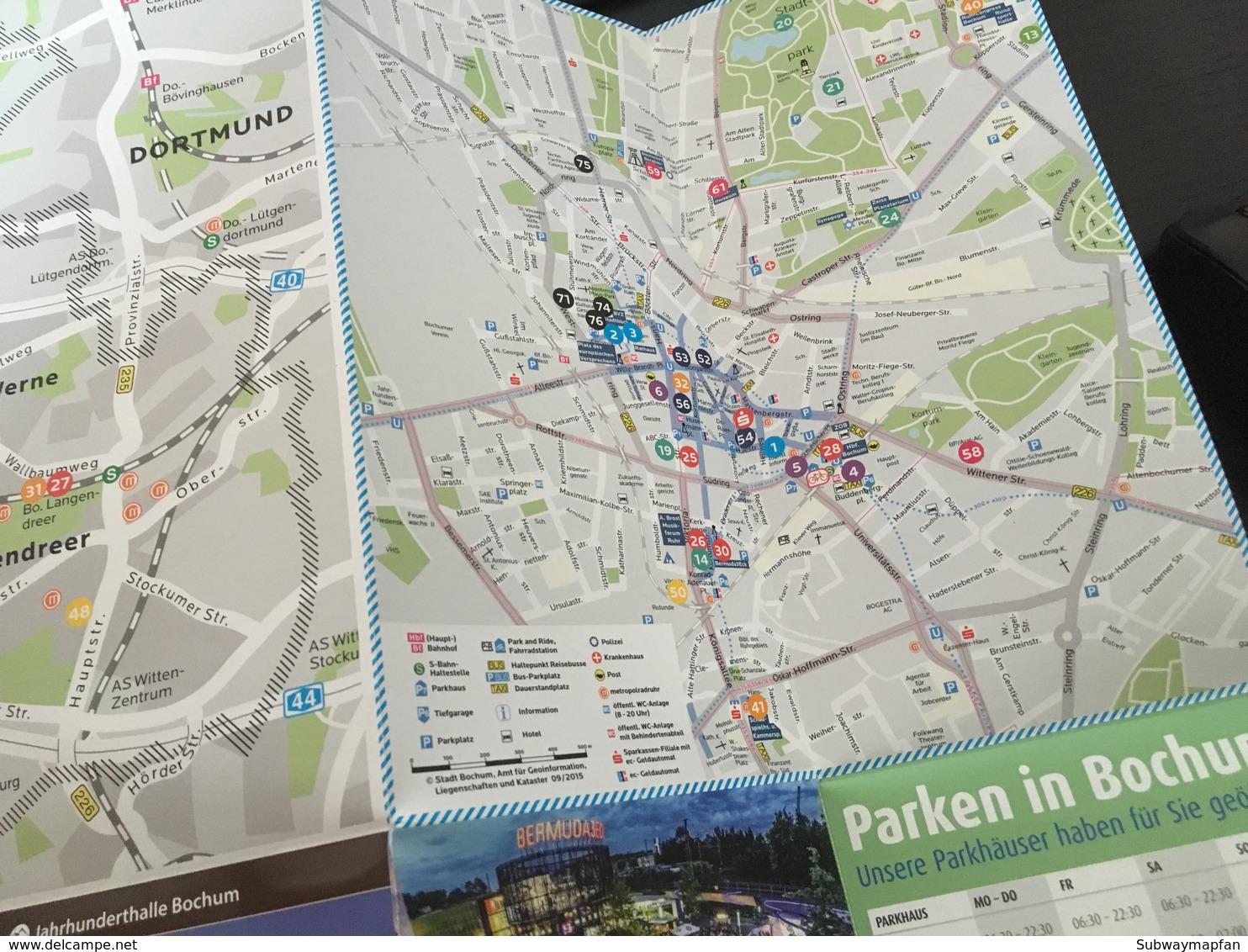 City & Transit Map Bochum - Subway Bus Tram - World