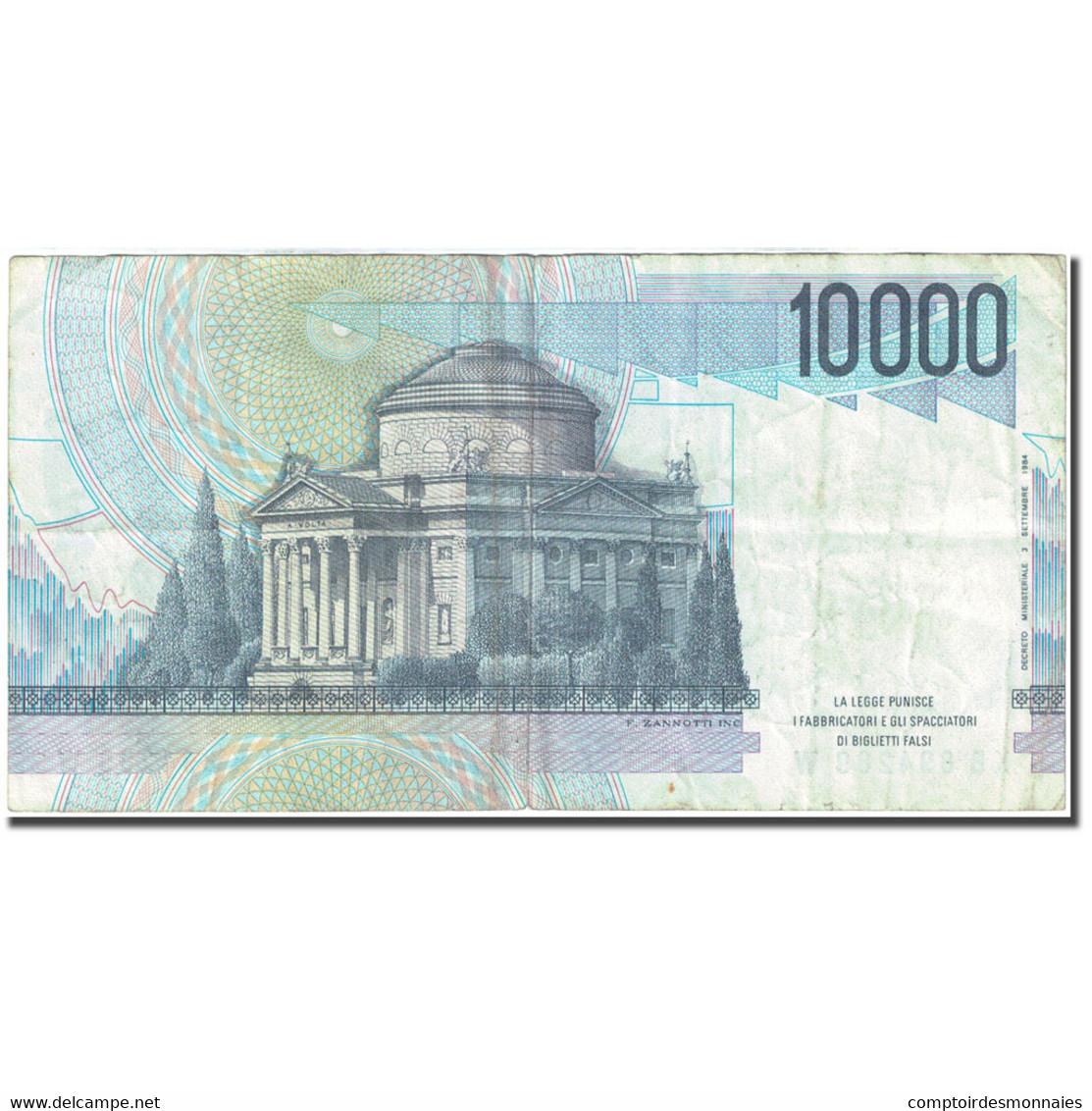 Billet, Italie, 10,000 Lire, 1982-1983, 1984-09-03, KM:112a, TB - [ 2] 1946-… : République