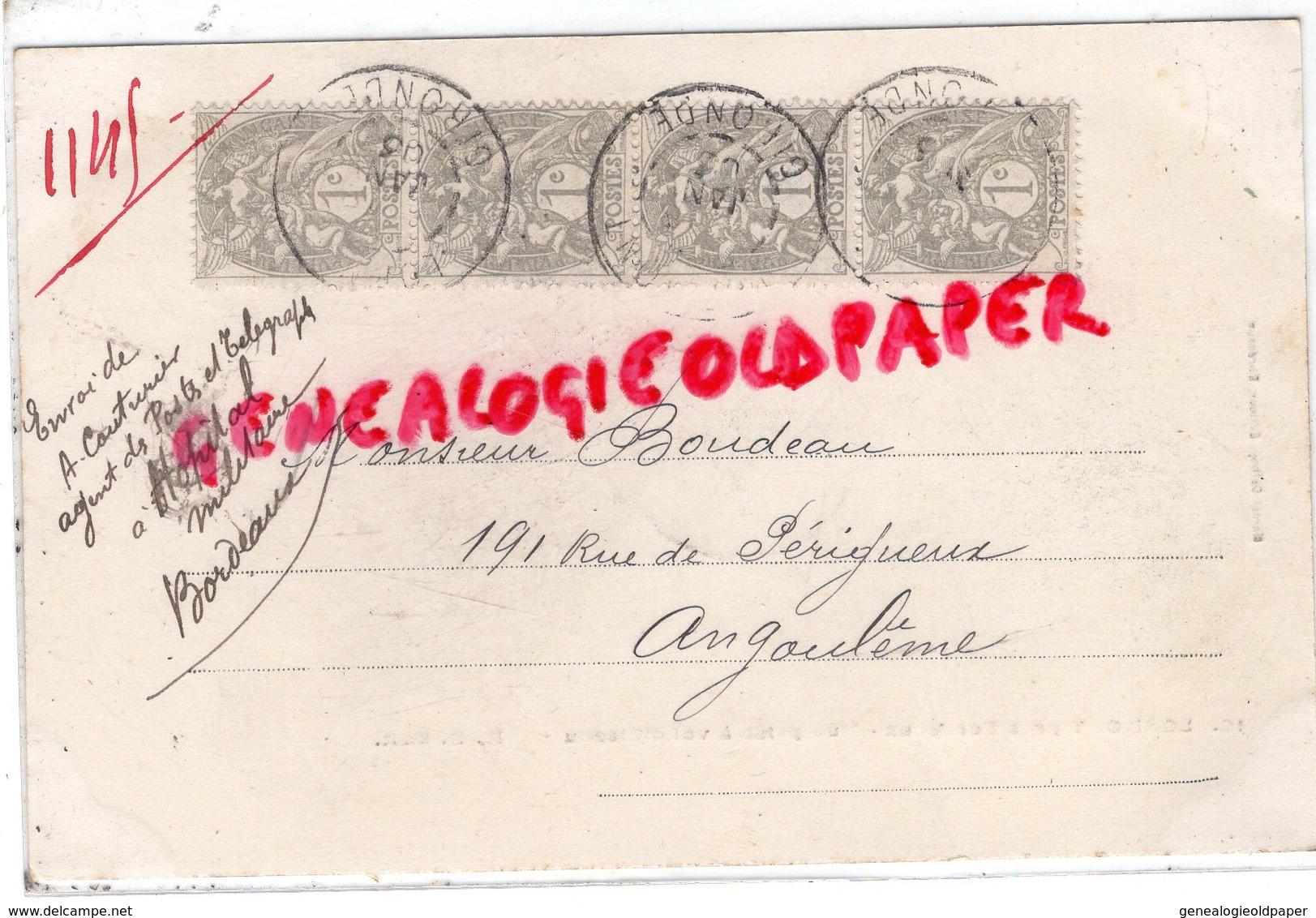 33- LORMONT PRES BORDEAUX- VUE PRISE A VOL D' OISEAU - CARTE PRECURSEUR NUAGE 1903 - Andere Gemeenten