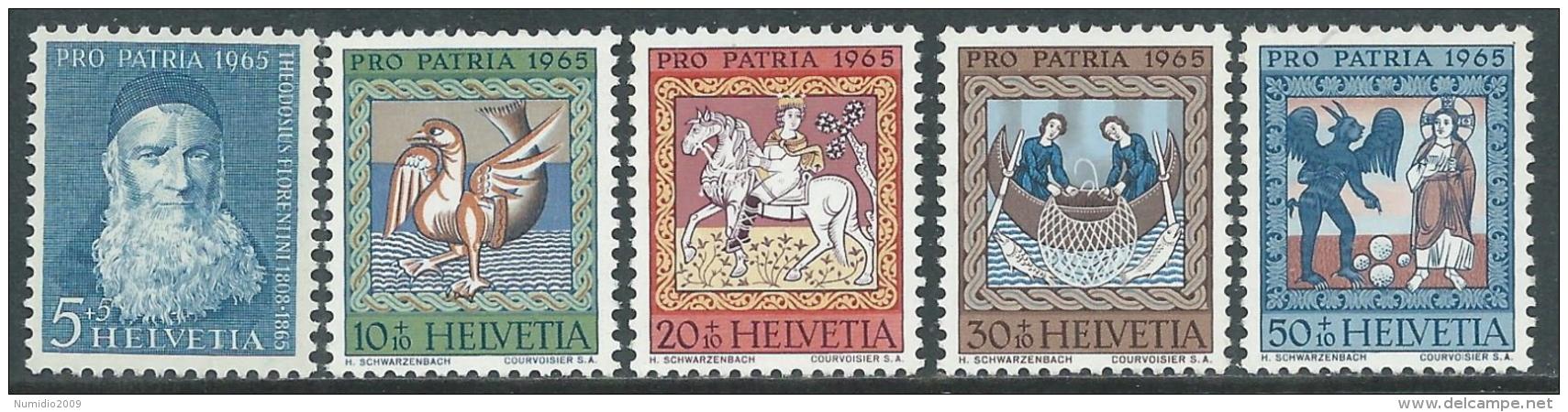 1965 SVIZZERA PRO PATRIA T. FLORENTINI QUADRI S. MARTINO DI ZILLIS MNH ** - I59-5 - Pro Patria