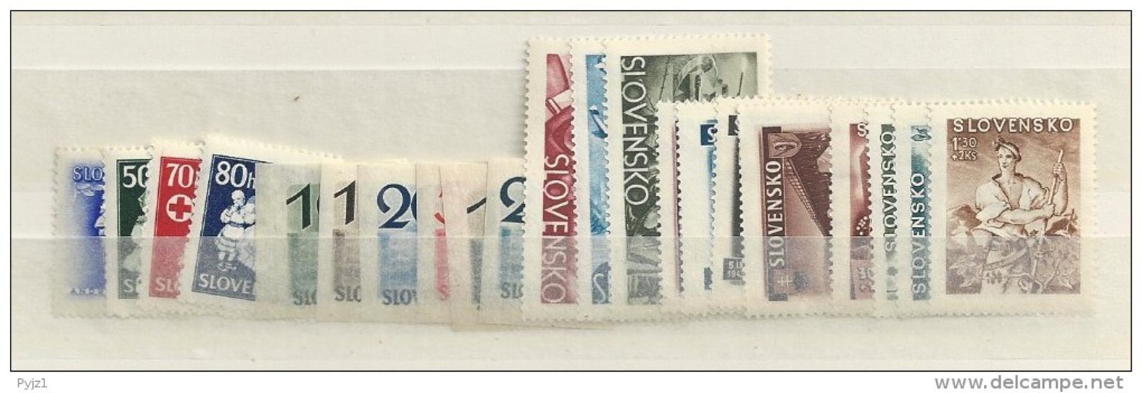 1943 MH Year Collection Slowakei, Slovensko - Unused Stamps