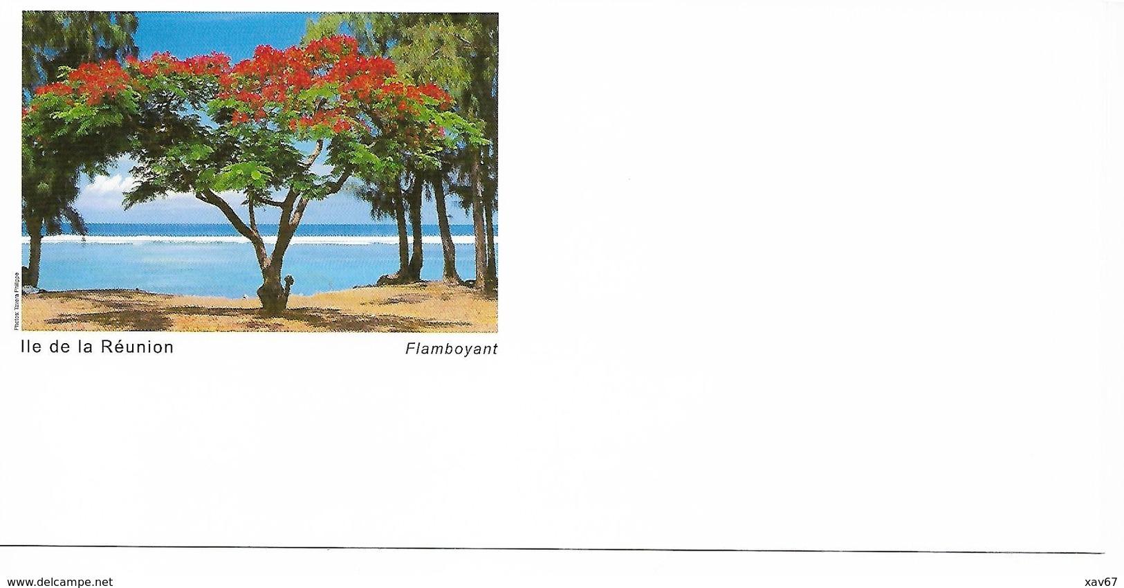 PAP Ile De La Réunion Lot De 4 Enveloppes Différentes + Cartes De Correspondance Assorties N° 809 Lot 42K/0303215 - Ganzsachen