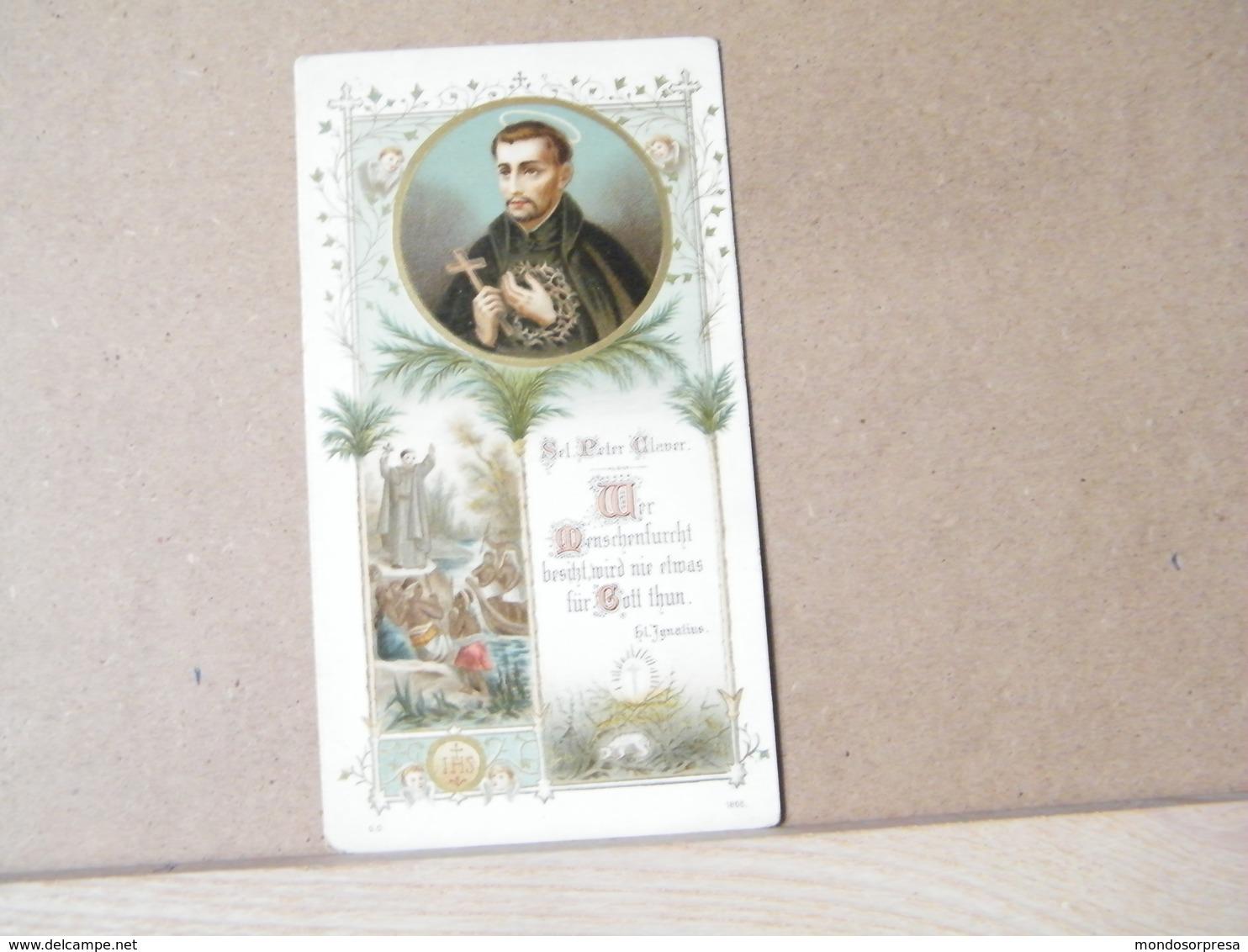 MONDOSORPRESA, (ST140) SANTINO, SANTINI, PIETRO CLAVER, PETER CLAVER - Images Religieuses