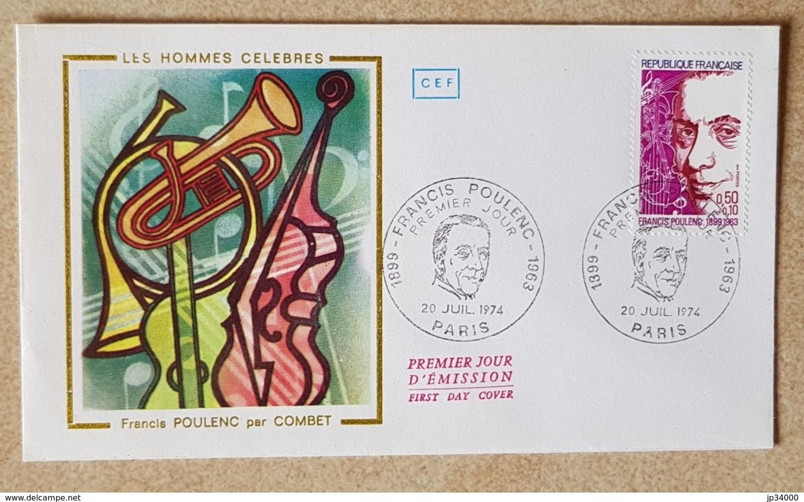FRANCE: Musique, Musica, Music, FDC, Enveloppe Premier Jour, Francis Poulenc. Yvert N° 1785 - Musik