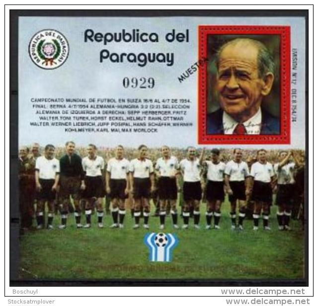 Paraguay  1978 World Cup Football MICHEL No.BL313 - 1978 – Argentine