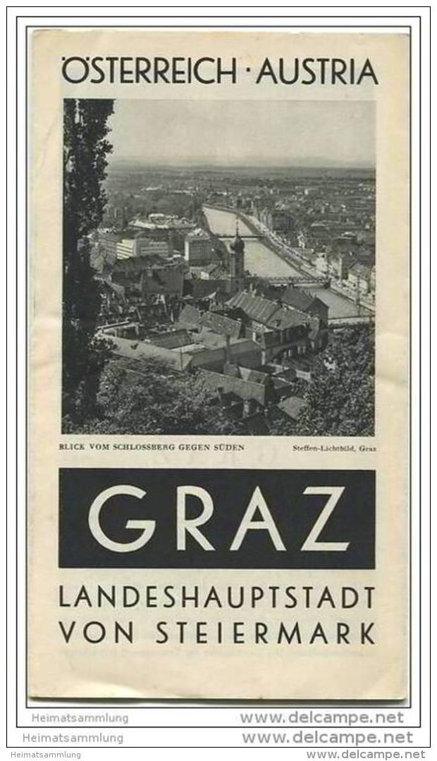 Graz Ca. 1930 - Faltblatt Mit 14 Abbildungen - Beiliegend Hotel Und Gaststättenverzeichnis - Oesterreich