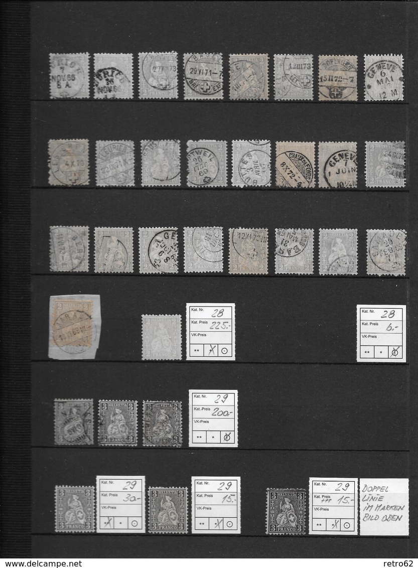 1862 - 1881 SITZENDE HELVETIA Gezähnt → NEU 20% Rabatt ►Grosse Sammlung Auf 14 Albumseiten ►RRR◄ - Collections