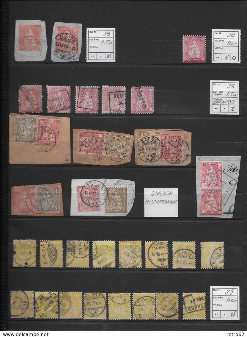 1862 - 1881 SITZENDE HELVETIA Gezähnt → NEU 20% Rabatt ►Grosse Sammlung Auf 14 Albumseiten ►RRR◄ - Schweiz