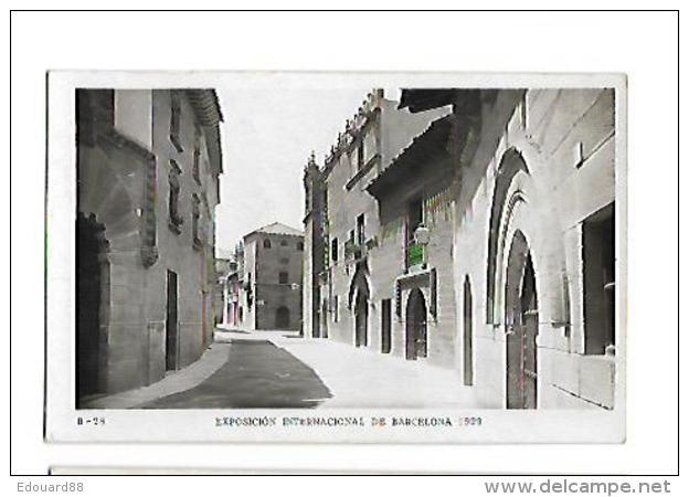 EXPOSICION INTERNACIONAL DE BARDELONA 1929   Pueblo Espagnol Calle De Cabalerros - Exposiciones