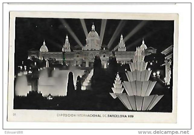EXPOSICION INTERNACIONAL DE BARDELONA 1929  Palacio Nacional Nocturne - Exposiciones