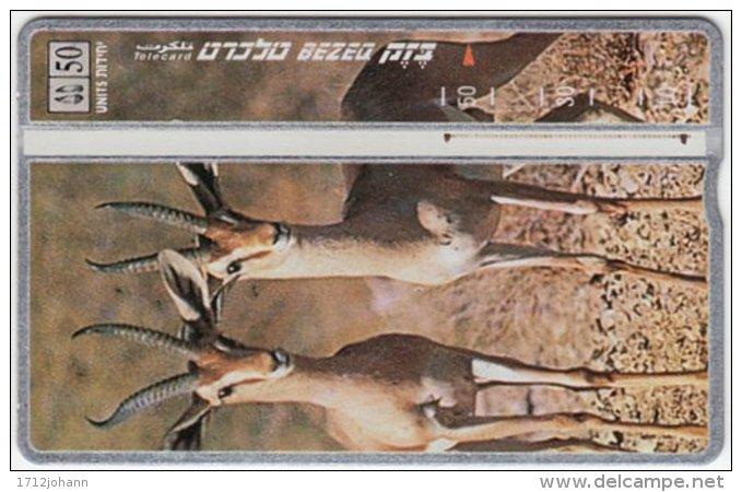 ISRAEL B-467 Hologram Bezeq - Animal, Gazelle - 801E - Used - Israel