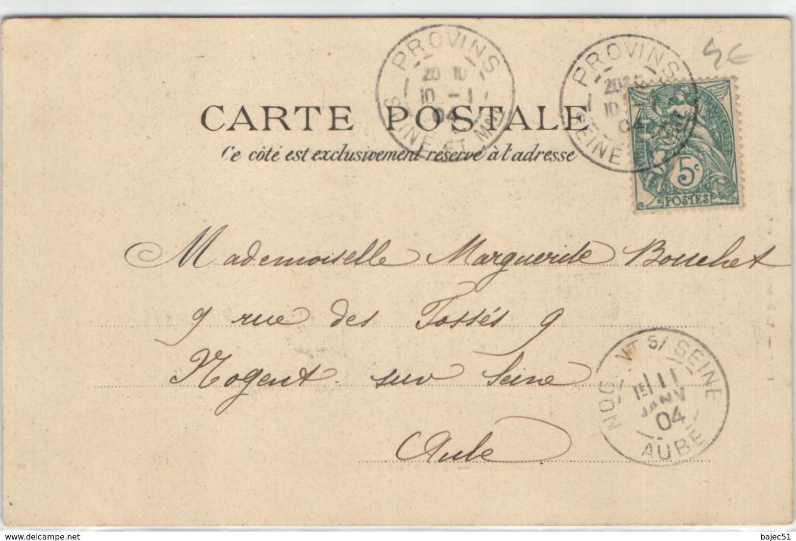 """1 Cpa Provins - Hôtel De Ville """"pionnière 1904"""" - Provins"""