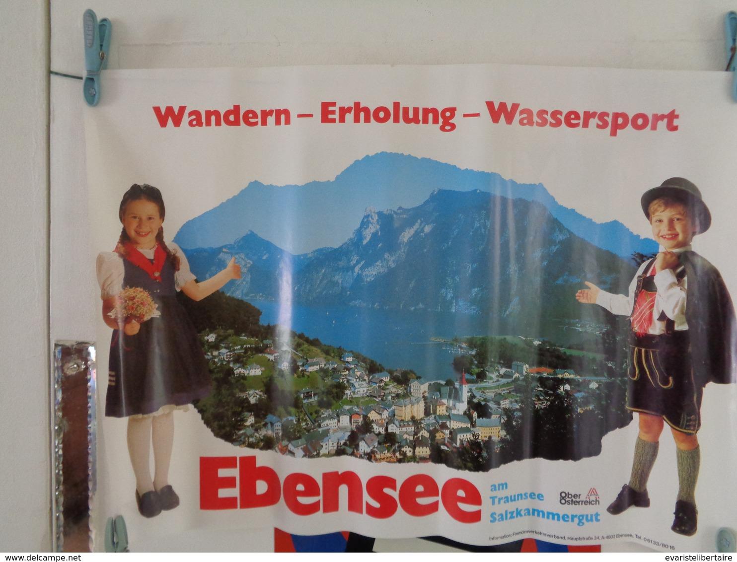 Affiche : Wandern ,- Erholung - Wassersport -Ebensee  H 642 L 58,5 - Affiches