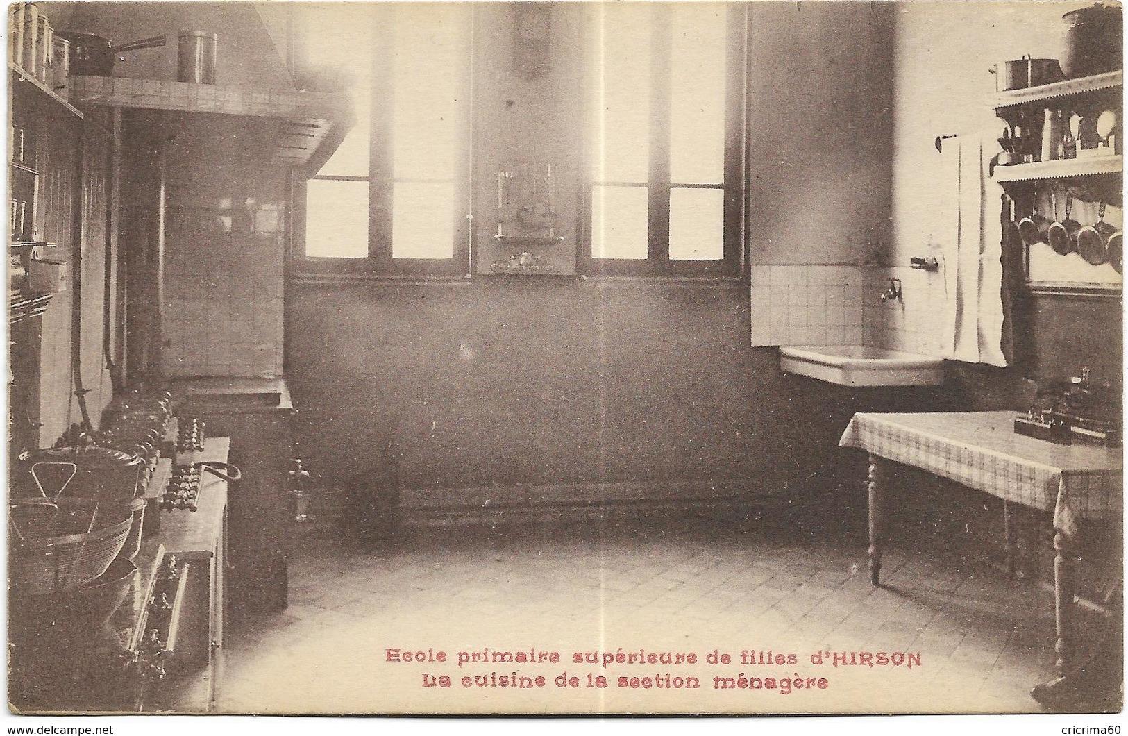 02 - Ecole Primaire Supérieure De Filles D'HIRSON - La Cuisine De La Section Ménagère. CPA Ayant Circulé En 1926. BE. - Hirson