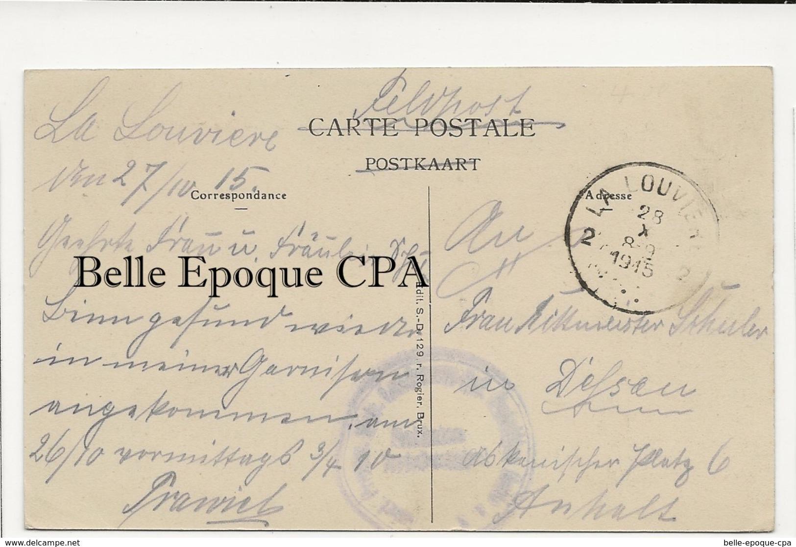 Belgique - LA LOUVIÈRE - Château Boch ++++ Soldaten Brief Stempel / Feldpost +++ 1915 - La Louvière