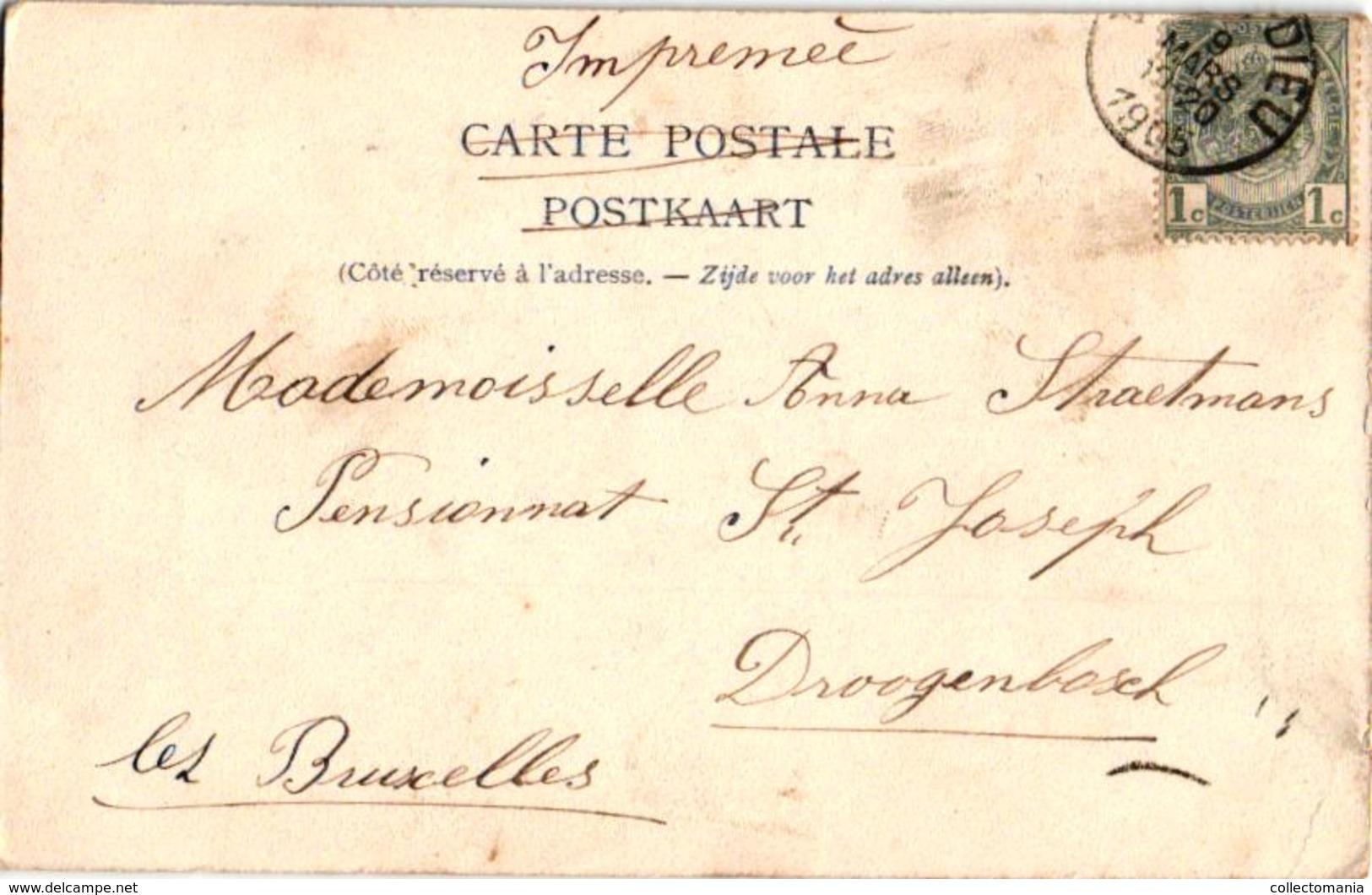 1 Oude  Postkaart Hove   Doornboomstraat  Uitg. Bongartz  1905 - Hove
